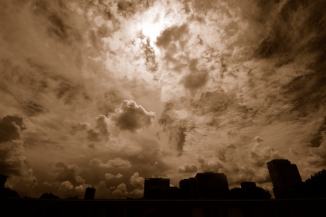 Clouds Sepia